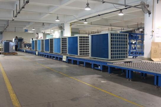宏星空气源热泵生产线